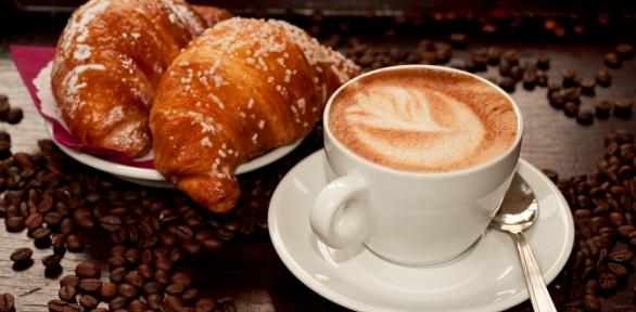 Кофе скруассаном для одного или двоих откофейни «Черный лис»