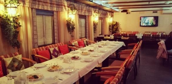 Банкет сзакусками, горячими блюдами идесертом вресторане «Марокко»