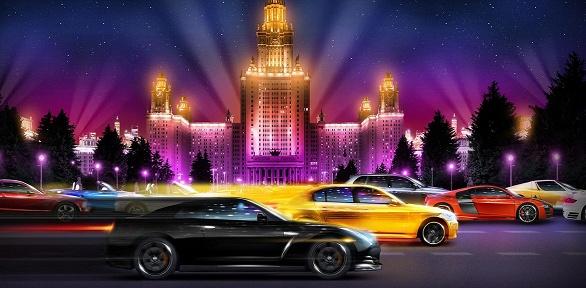 Участие вавтоквесте поночной Москве отклуба NewRoadGames
