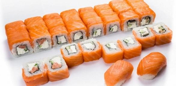 Роллы, суши инаборы отслужбы доставки Sushibum заполцены