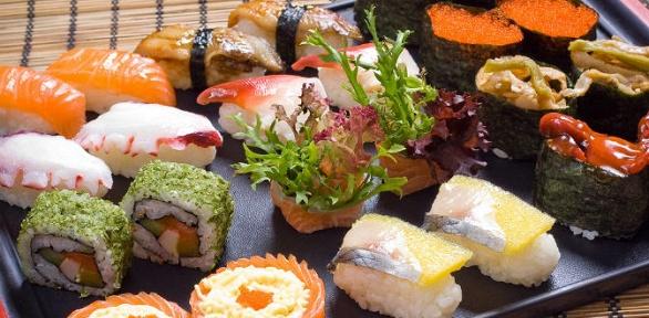 Блюда инапитки отслужбы доставки Monster Sushi заполцены