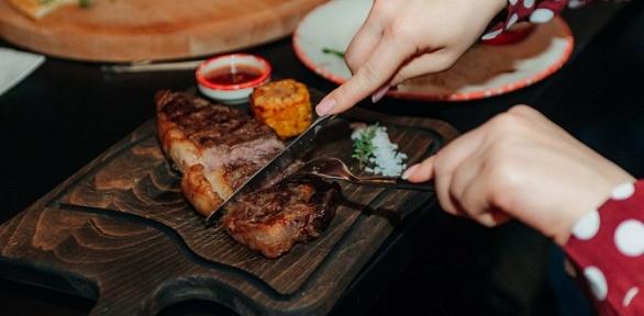 Ужин вресторане «Мясо»