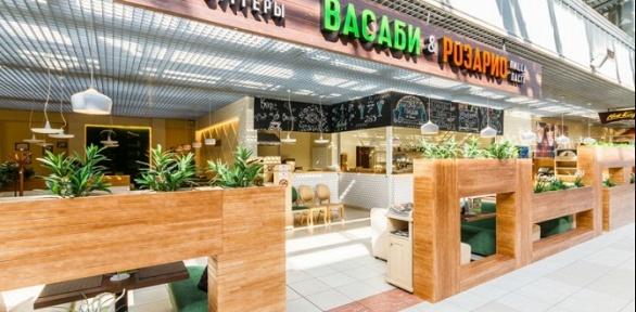 Блюда изменю кухни водном изресторанов «Васаби &Розарио» заполцены