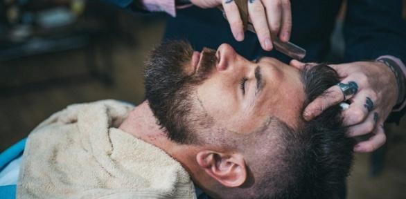 Мужская стрижка, коррекция бороды или детская стрижка вбарбершопе Bullet