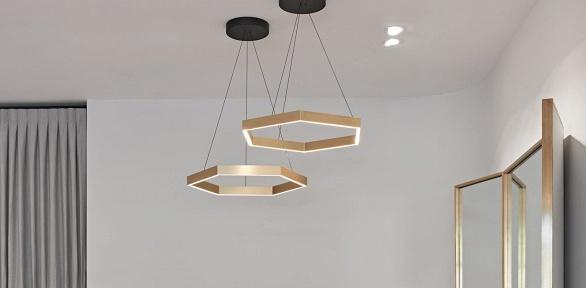 Дизайнерские светодиодные светильники WPHexago 202или WPHole Ring