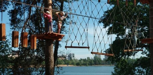Посещение скалодрома или прохождение веревочной трассы впарке Tree ToTree