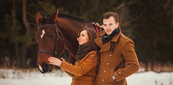 Часовая конная прогулка для одного или двоих отконного клуба «Былина»