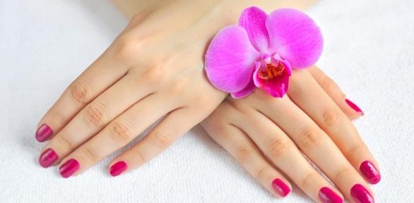Маникюр ипедикюр, укрепление ногтей гелем встудии красоты Calipso