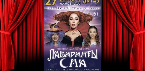 Билет намюзикл для всей семьи «Лабиринты сна» вДКГАЗ заполцены
