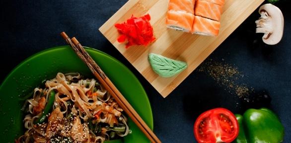 Пицца, роллы, суши, Wok, закуски отслужбы доставки Asia Mix заполцены