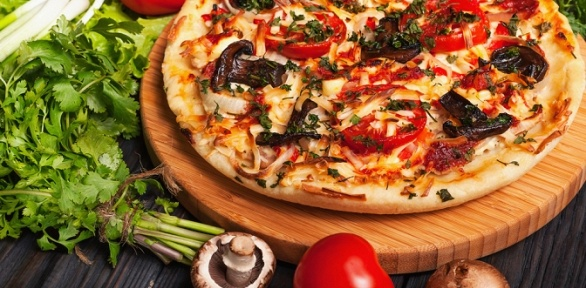 Пицца навыбор вресторане «Таймс» заполцены
