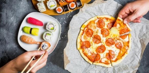 Роллы, пицца отдоставки «Япона мама» заполцены