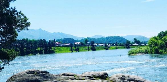 Отдых наАлтае наберегу реки набазе отдыха «Сосновый бор»