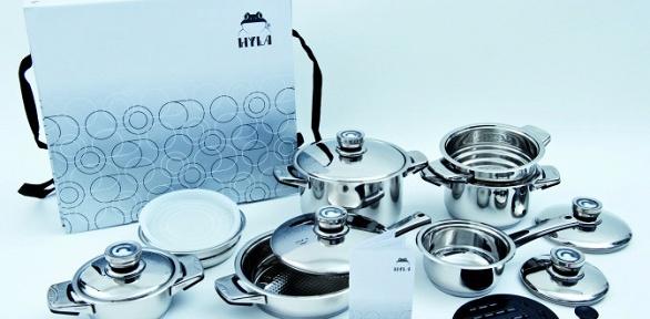 Подарочный комплект кухонной посуды из16предметов Hyla