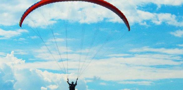 Полет напараплане отклуба «Мечта летать»