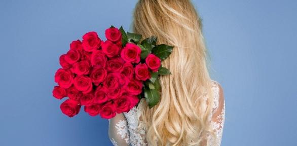 Букеты изкенийских, эквадорских или российских роз высотой до80см