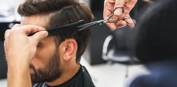 Мужская стрижка, камуфляж седины или оформление бороды всалоне Studio Hair