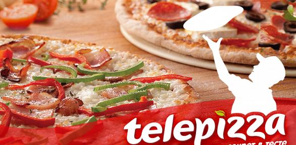 2пиццы взале или навынос отсети ресторанов Telepizza заполцены