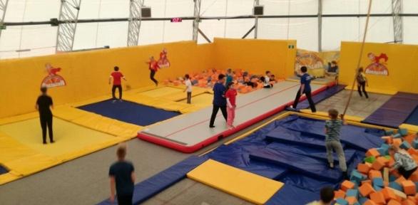 1или 2часа свободных прыжков вбатутном центре «Апельсин»
