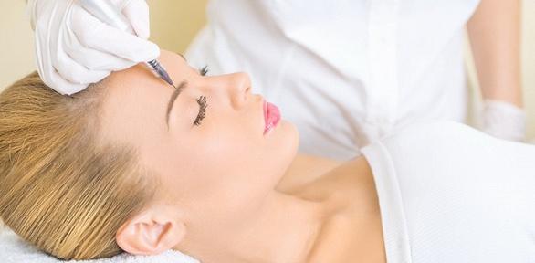 Перманентный макияж губ, век или бровей встудии «100баллов»