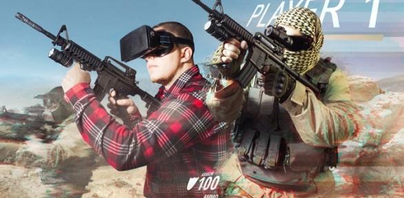 60минут игры вшлеме HTC Vive или Oculus Rift вклубе AdrenalineVR