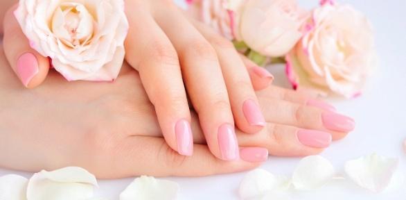 Маникюр ипедикюр спокрытием встудии Pink Ivy