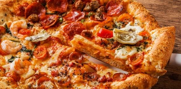 Вся пицца отслужбы доставки «Два берега» заполцены
