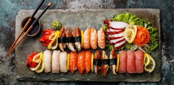 Ужин ссуши-сетом для двоих всети ресторанов «Харакири»