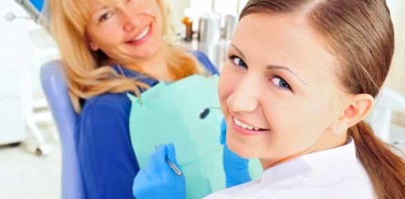 Чистка зубов иснятие зубного налета вклинике «Спектр-Дент»