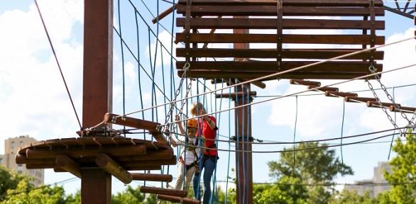 Безлимитное посещение веревочного парка отсети парков «Страна веселья»