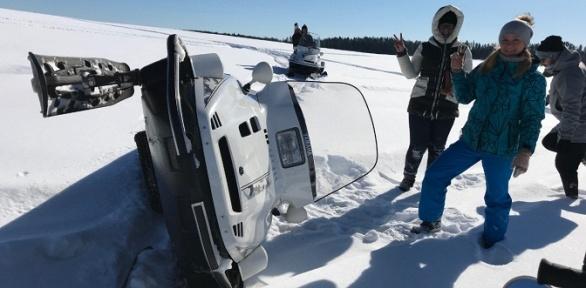 Катание наснегоходе откомпании Kvadrmoto