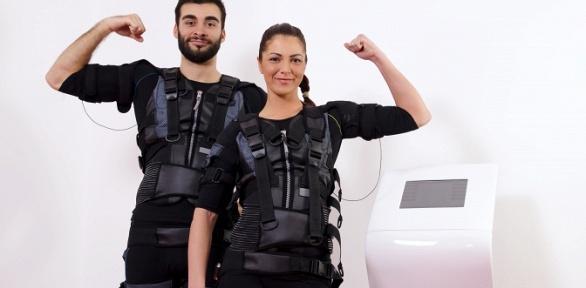 До12фитнес-тренировок наEMS-тренажере встудии EMS-Body-Club