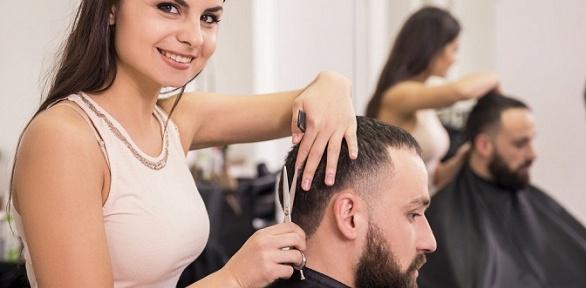 Мужская стрижка иукладка волос впарикмахерской «Бюро красивых услуг»