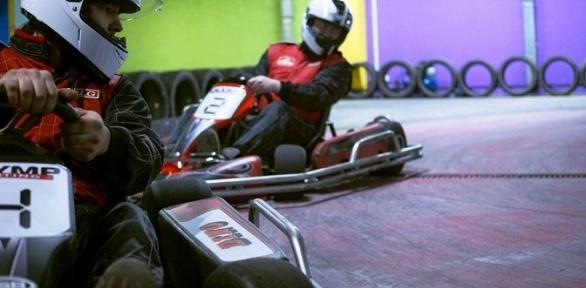 2заезда для одного или двоих накрытом картодроме Olymp Karting