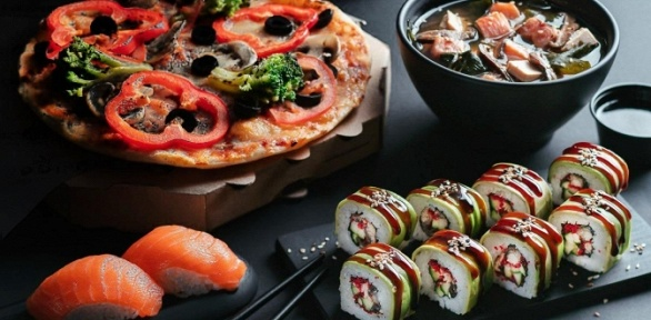 Все меню кухни отсети службы доставки «Суши Love»