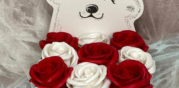 Букет изискусственных мыльных роз