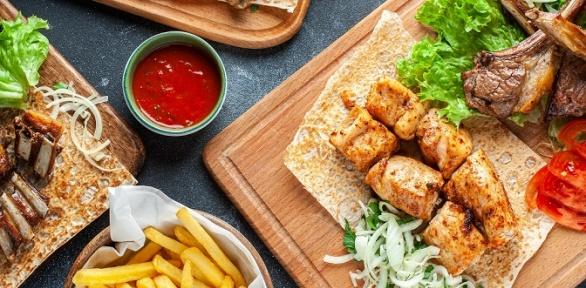 Меню кухни инапитки вкафе Lav Kebab
