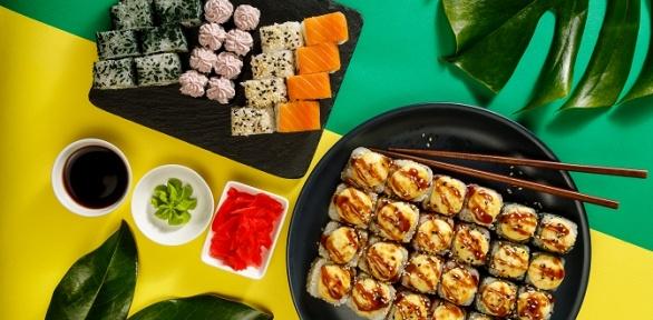 Сет изроллов отсети суши-баров «Суши Love» заполцены