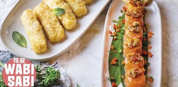Блюда меню инапитки вкафе «Ваби Саби» вТРЦ «Vegas Кунцево» заполцены