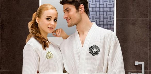 Именной женский или мужской халат либо пижамный костюм