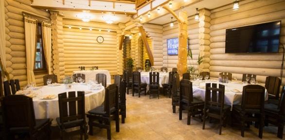 Ужин вресторане впарк-отеле «Лазурный берег наОке»