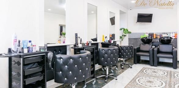 Стрижка, окрашивание, укладка ивосстановление волос встудии De'Natella