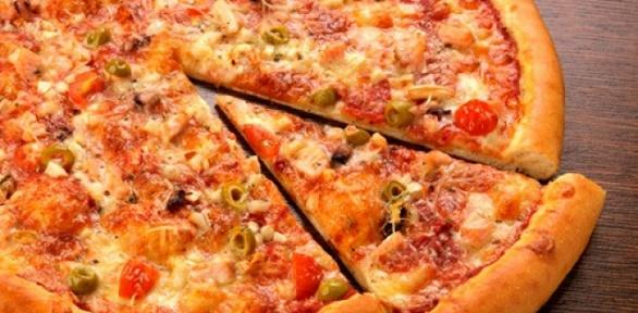 Пицца сдоставкой отслужбы доставки Express заполцены