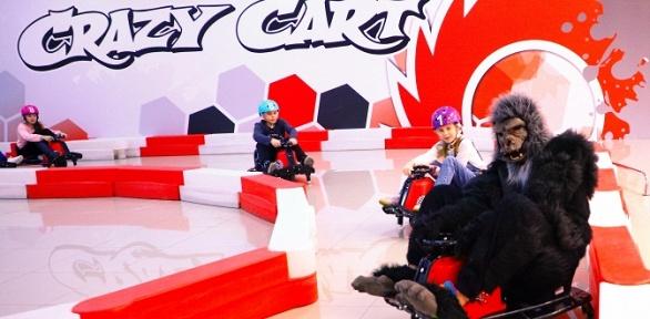 2или 3заезда надрифт-карте вкартинг-центре Crazy Cart