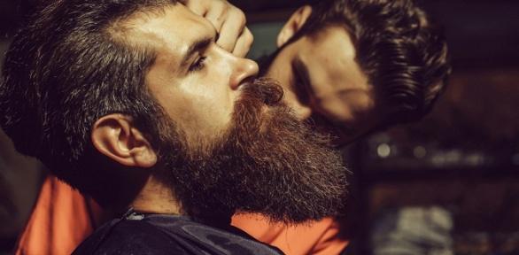 Мужская стрижка смоделированием бороды либо без вбарбершопе Chernomor
