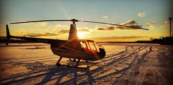 Полет навертолете для 1, 2или 3человек откомпании «АэроБэйс»