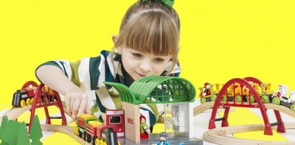 Посещение детской площадки «Городок паровозиков»