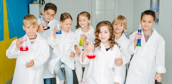 Посещение мастер-класса или курса занятий вклубе юного химика «Фарадей»