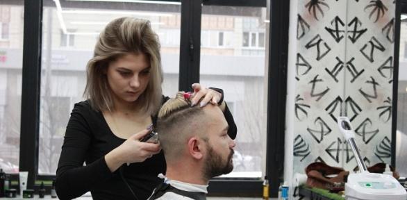 Стрижка волос, бороды иусов отбарбершопа «Атом Hair Lab»