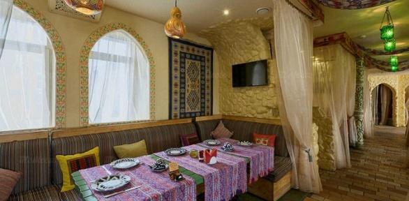 Романтический или дружеский ужин влаундж-ресторане «Карши»